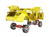 Szervezet és a felfüggesztés, az autó kerék és motor Undercarria
