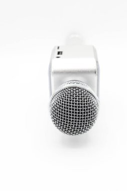microphone isolated on white background .