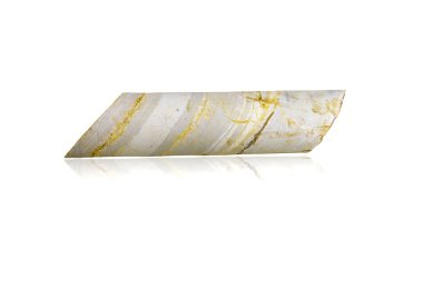 limestone core sample isolated on white background.This had clipping path