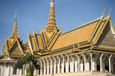 Throne Hall of Royal Palace in city of Phnom Penh of Cambodia