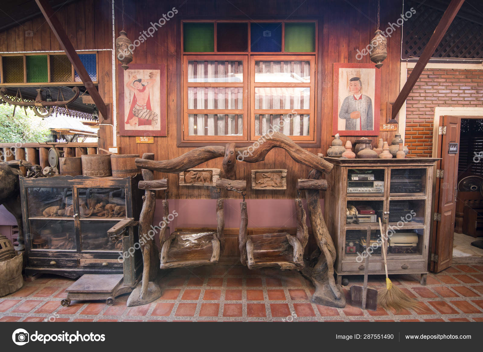 Thailand Phrae Wood House Baantep Museum Stock Editorial