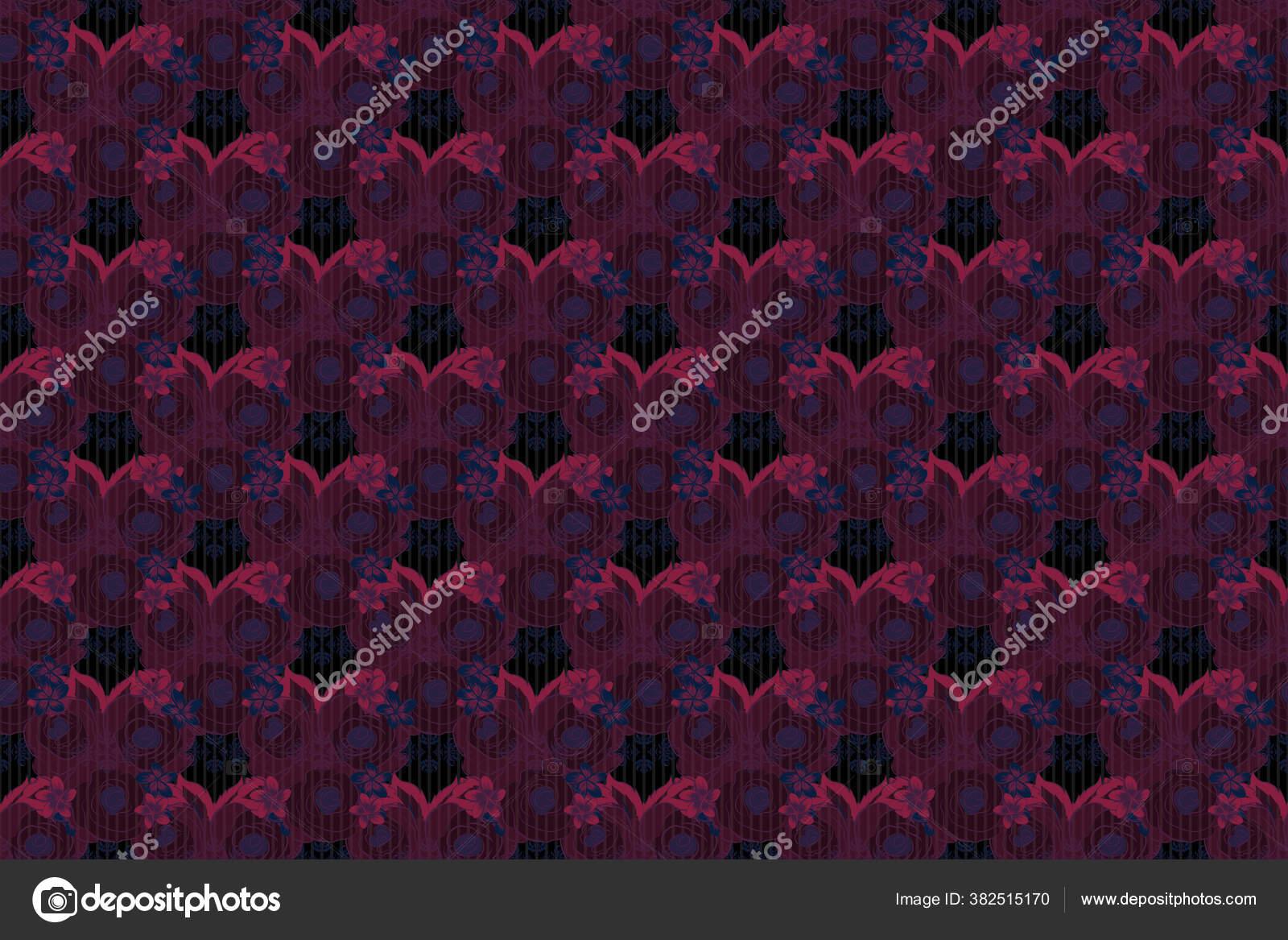 Gambar Bunga Berwarna Air Dengan Bunga Mawar Merah Ungu Dan Stok Foto C Design At Ua Gmail Com 382515170