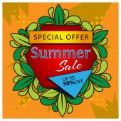 Summer sale banner. designs for posters, backgrounds, cards, banners, stickers, etc