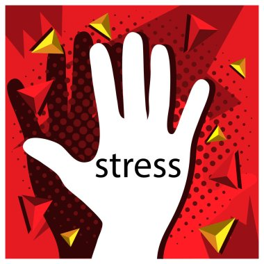 No Stress with hand Vector Icon Illustration.