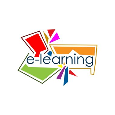 E-learning vector stock. Flat vector illustration on white background.
