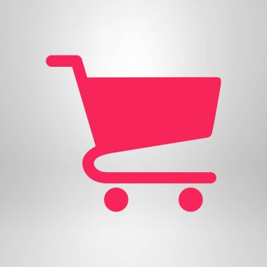 Flat icon of shopping chart. Abstract color icon