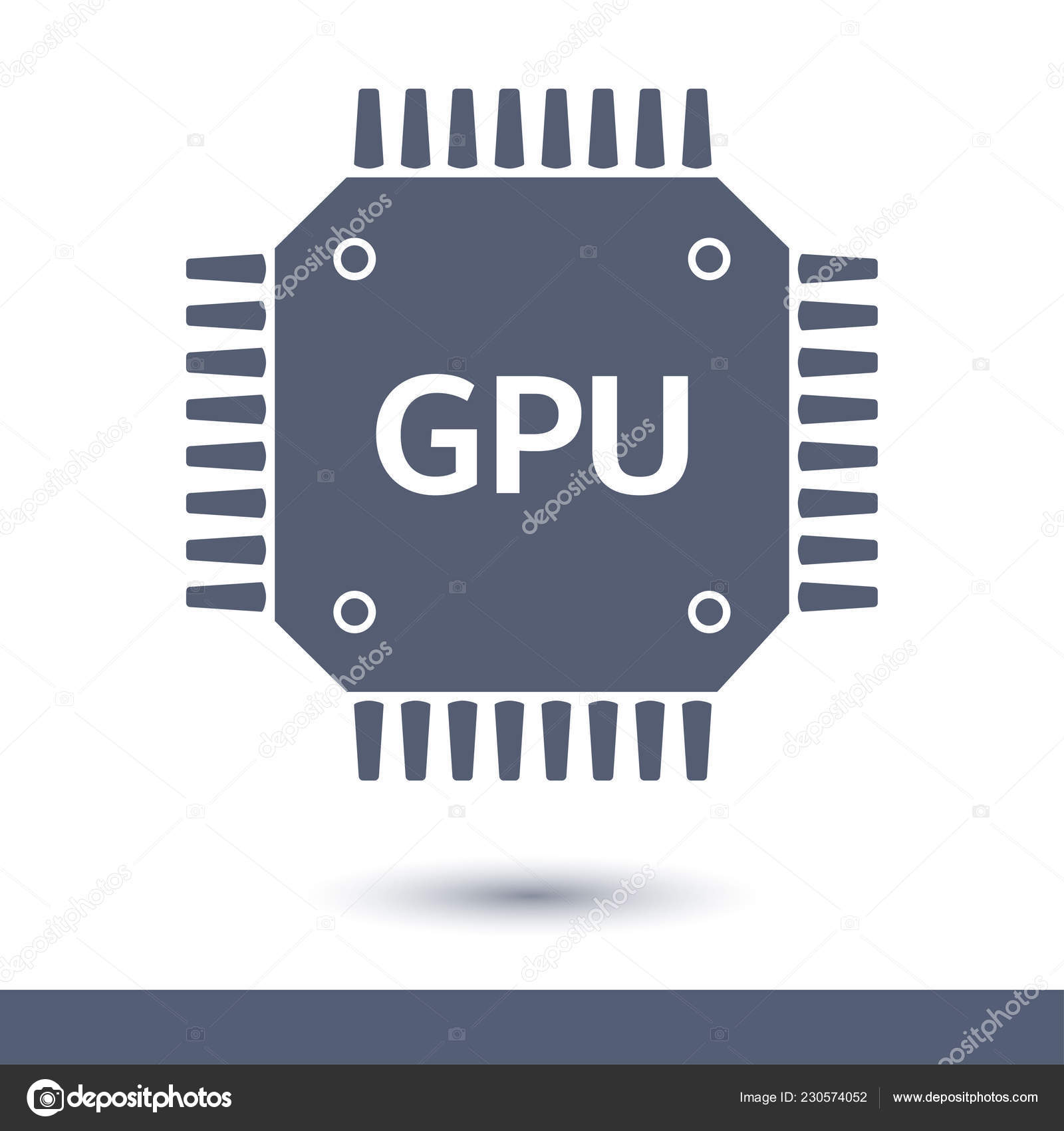 Circuit Board Icon Technology Scheme Square Symbol Flat Design Style How To Boards Stock Vector