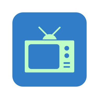 Tv icon. Flat design style. Vector EPS 10.