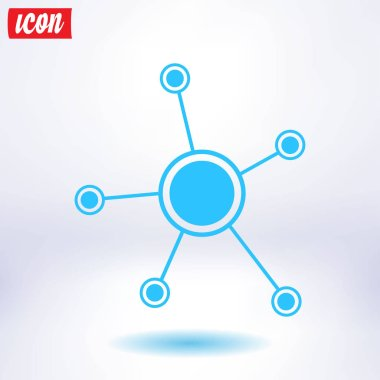 Social network single icon. Global technology or social network.
