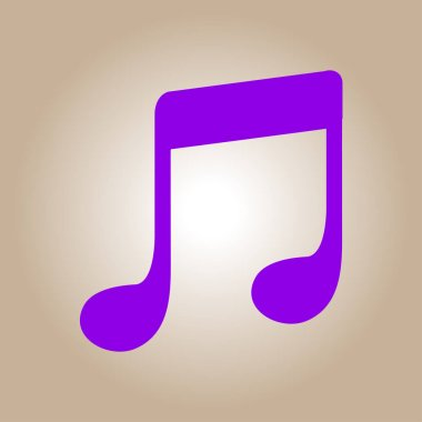 Music note icon. Musical symbol. Flat design style.
