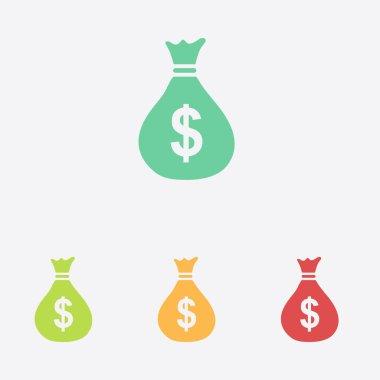 Dollar USD currency symbol. Flat design style.