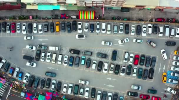 Aerial View Of The Parking Lot In Taiwan