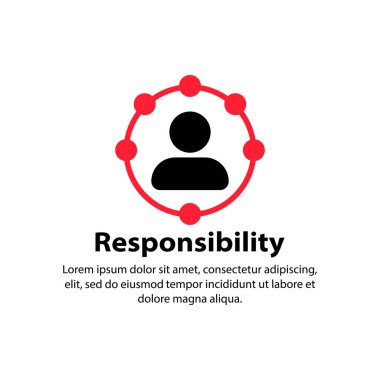 Responsibility icon. Circle, worker. Vector on isolated white background. EPS 10 icon
