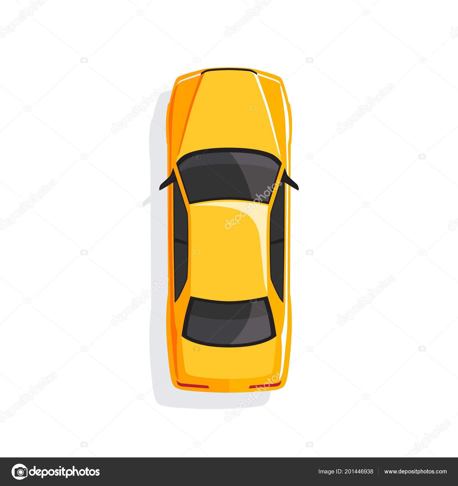 Voiture dessin anim jaune vue dessus illustration vectorielle image vectorielle freshwater - Voiture vue de haut ...