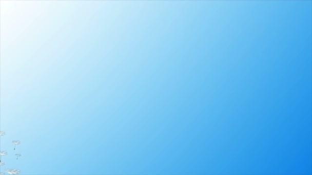 Létající Pampeliška proti obloze, umělecké video ilustrace