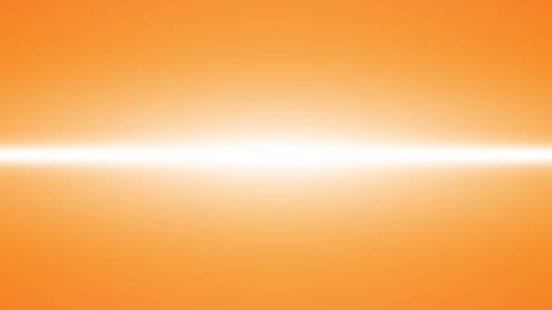 Leuchteffekt der orangefarbenen Neonlinie, Kunst-Video-Illustration.