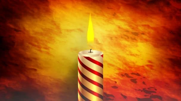 Hořící svíčka v temné, umění video ilustrace