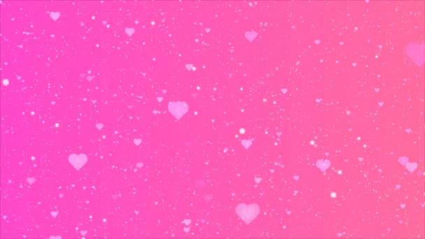 Rózsaszín lila lila szívek háttér, művészet videó illusztráció.