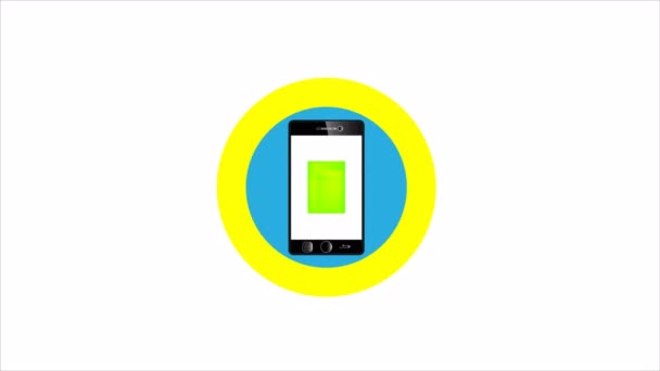 Business smartphone icon, art video illustration.