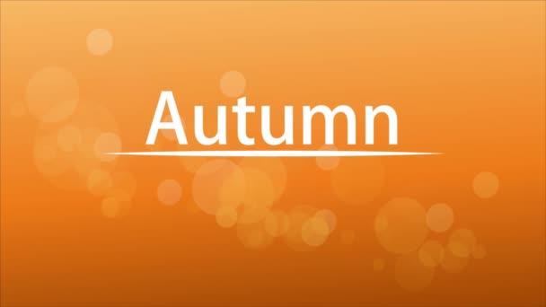 Háttér őszi levelek és fehér vonal, művészeti videó illusztráció.