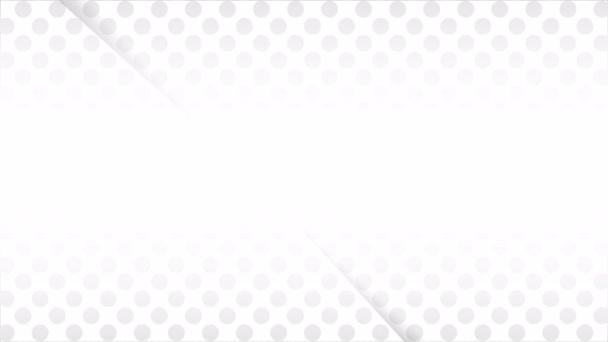 Halftone white web banner, art video illustration.