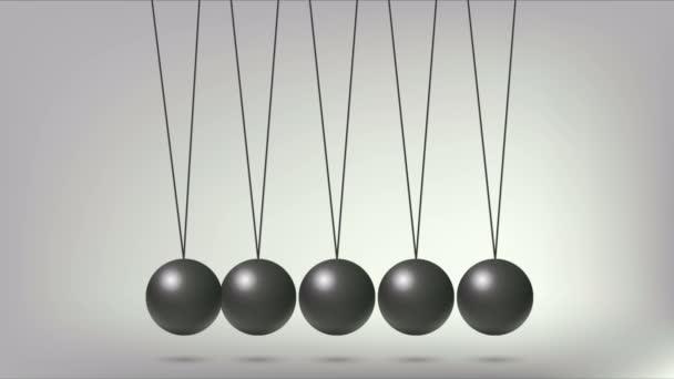 Newtons Cradle Balls, art video illustration.