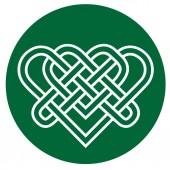 Fotografie Illustration des traditionellen keltischen Ornaments auf Grün