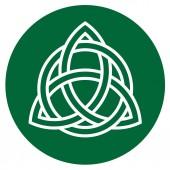 Illustration des traditionellen keltischen Ornaments auf Grün