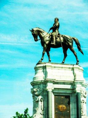 Statue of Thomas  Stonewall Jackson In Washington DC USA.Stonewall