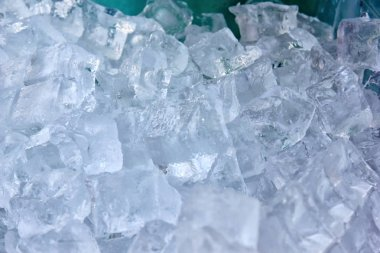 Background with crushed ice cube