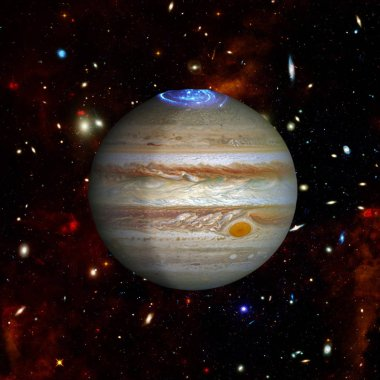 Jupiter. The elements of this image furnished by NASA.