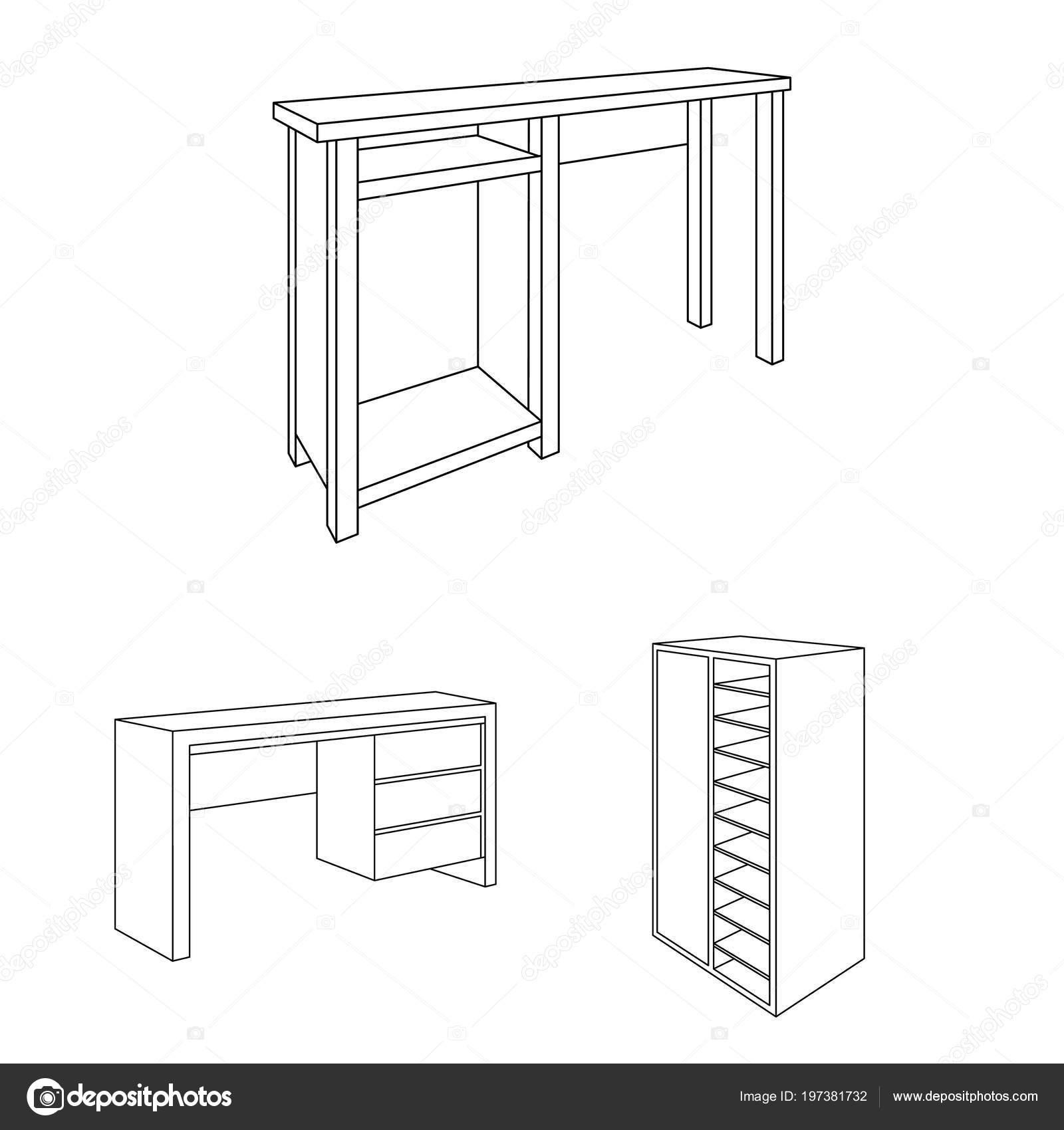 Icone di contorni mobili camera da letto in insieme di set for Un insieme di mobili
