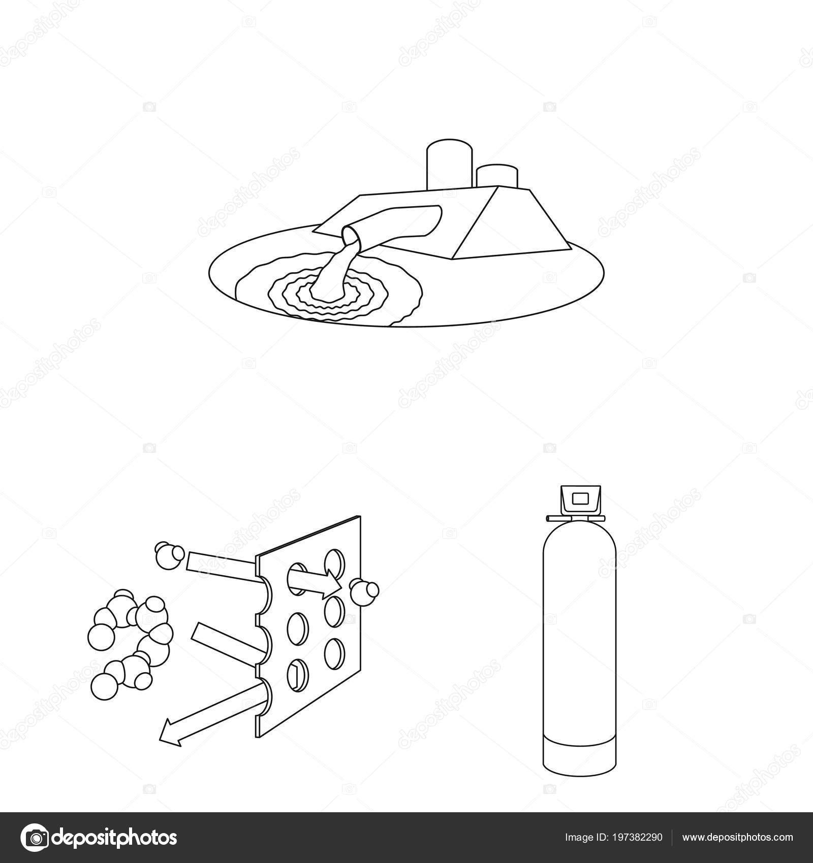 Water Filtration System Outline Icons In Set Collection For Design Diagram Cleaning Equipment Vector Symbol Stock