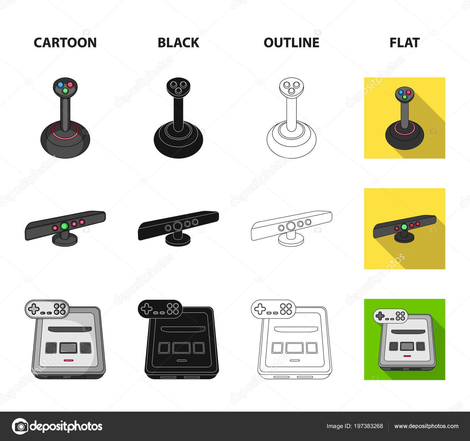 Jogo e Tv set-top box dos desenhos animados, preto, contorno