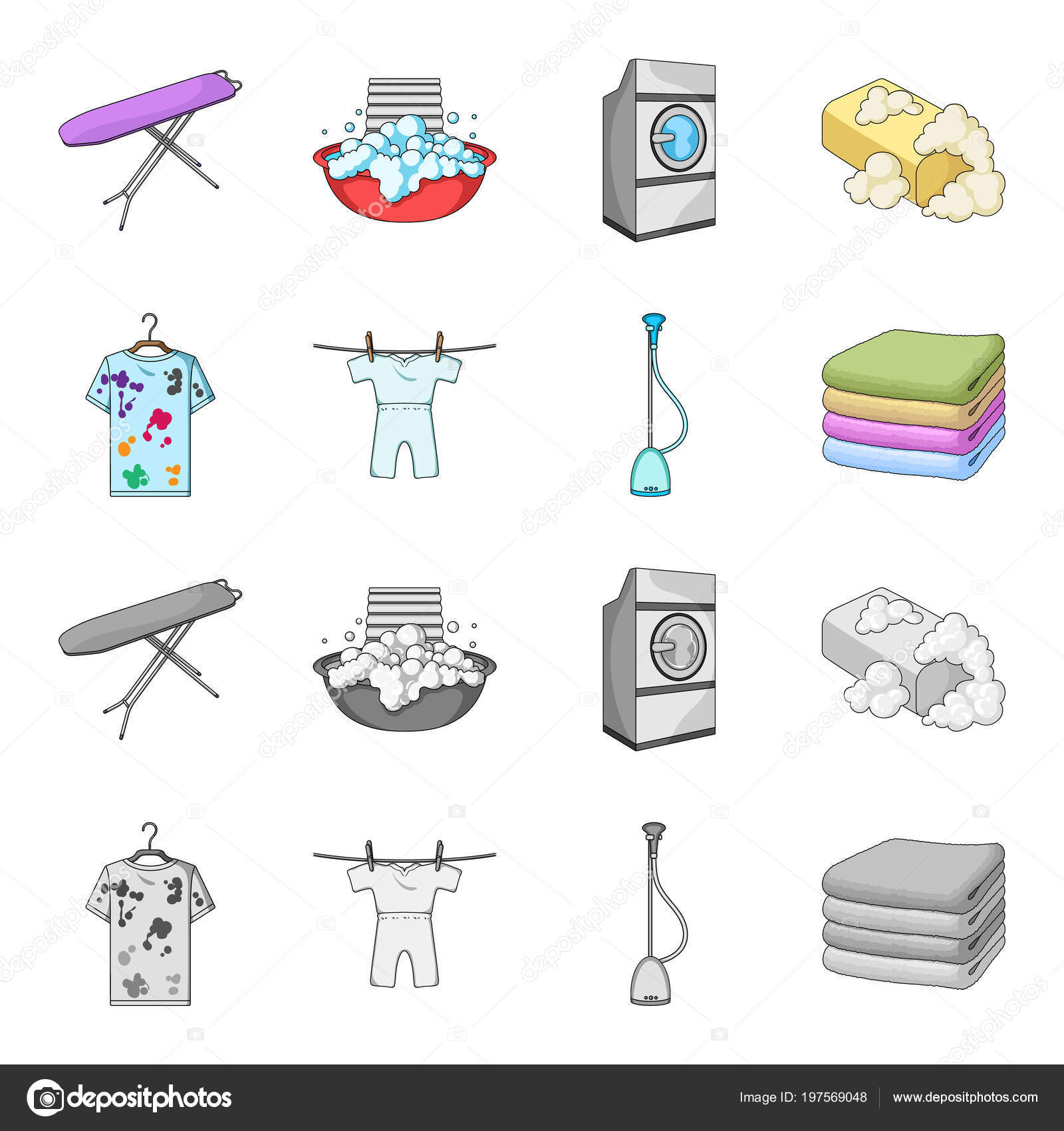 Vacuum Cleaner A Stack Of Cloth Dirty And Clean Things Dry
