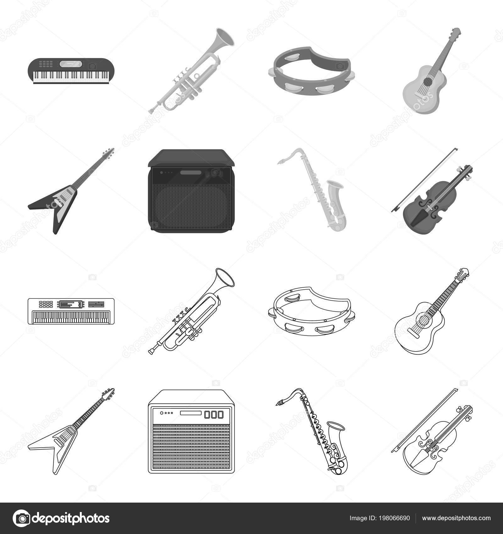 Electric Guitar Loudspeaker Saxophone Violinsic Instruments