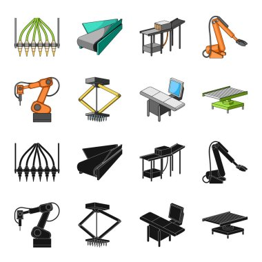 Automotive industry and other web icon in black,cartoon style.New technologies icons in set collection.
