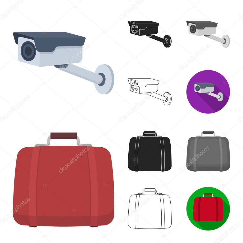Hotel and equipment cartoon,black,flat,monochrome,outline icons in set collection for design. Hotel and comfort vector symbol stock web illustration.