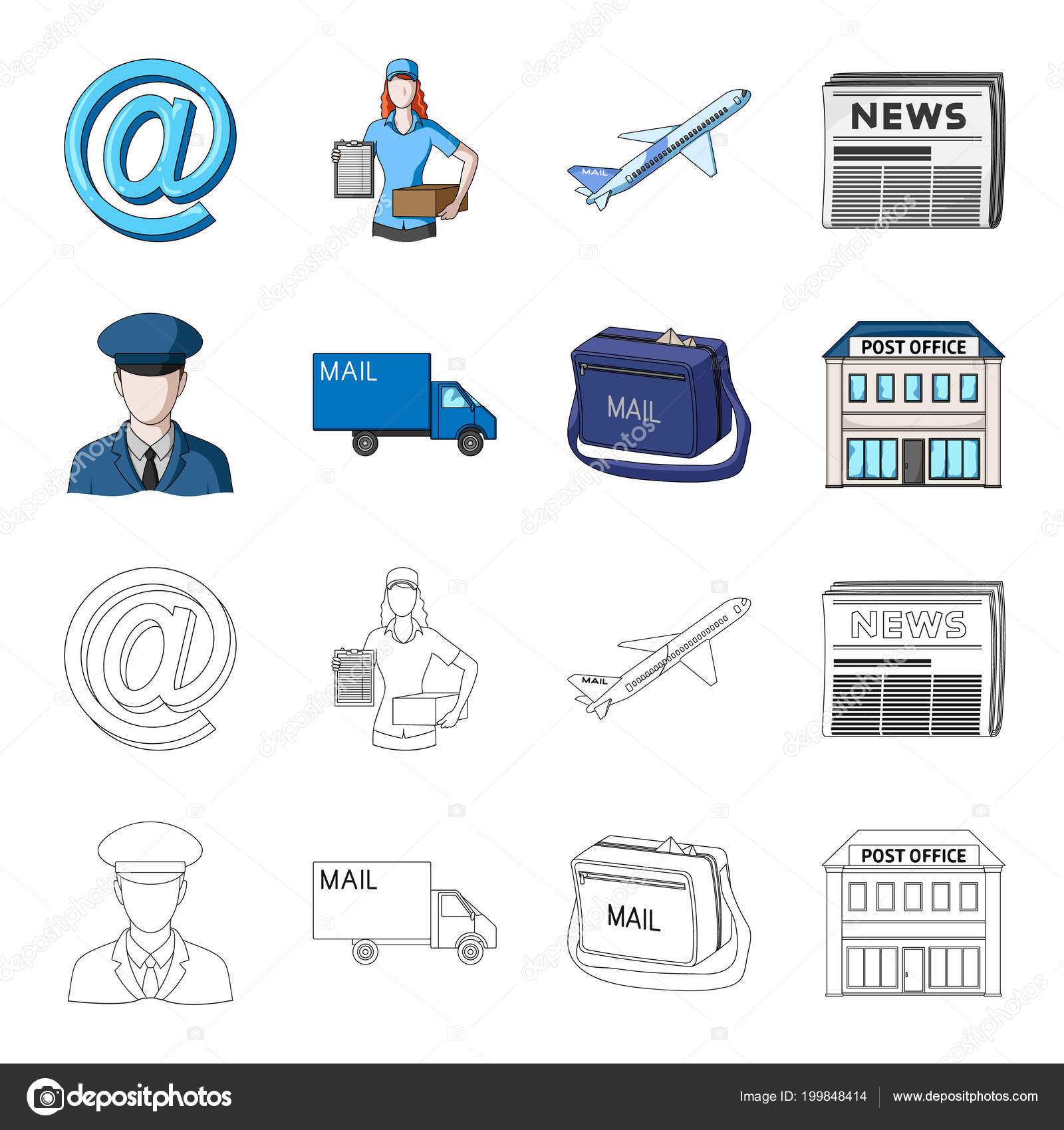 Der Postbote In Uniform Mail Maschine Tasche Für Korrespondenz