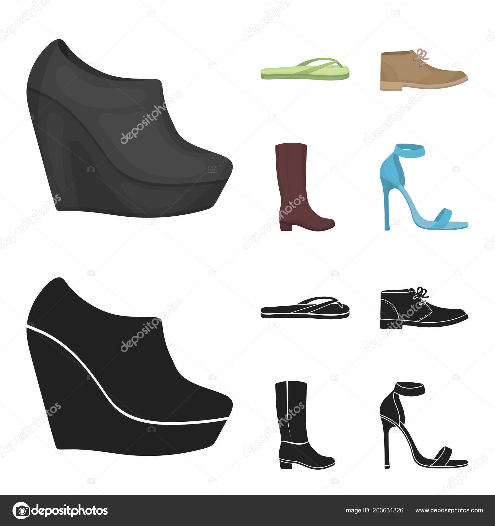 cd7c42a094 Podzimní černé boty na vysoké platformě