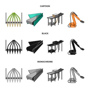 Modern equipment and other web icon in cartoon,black,monochrome style.Machine tools and equipment factory icons in set collection.