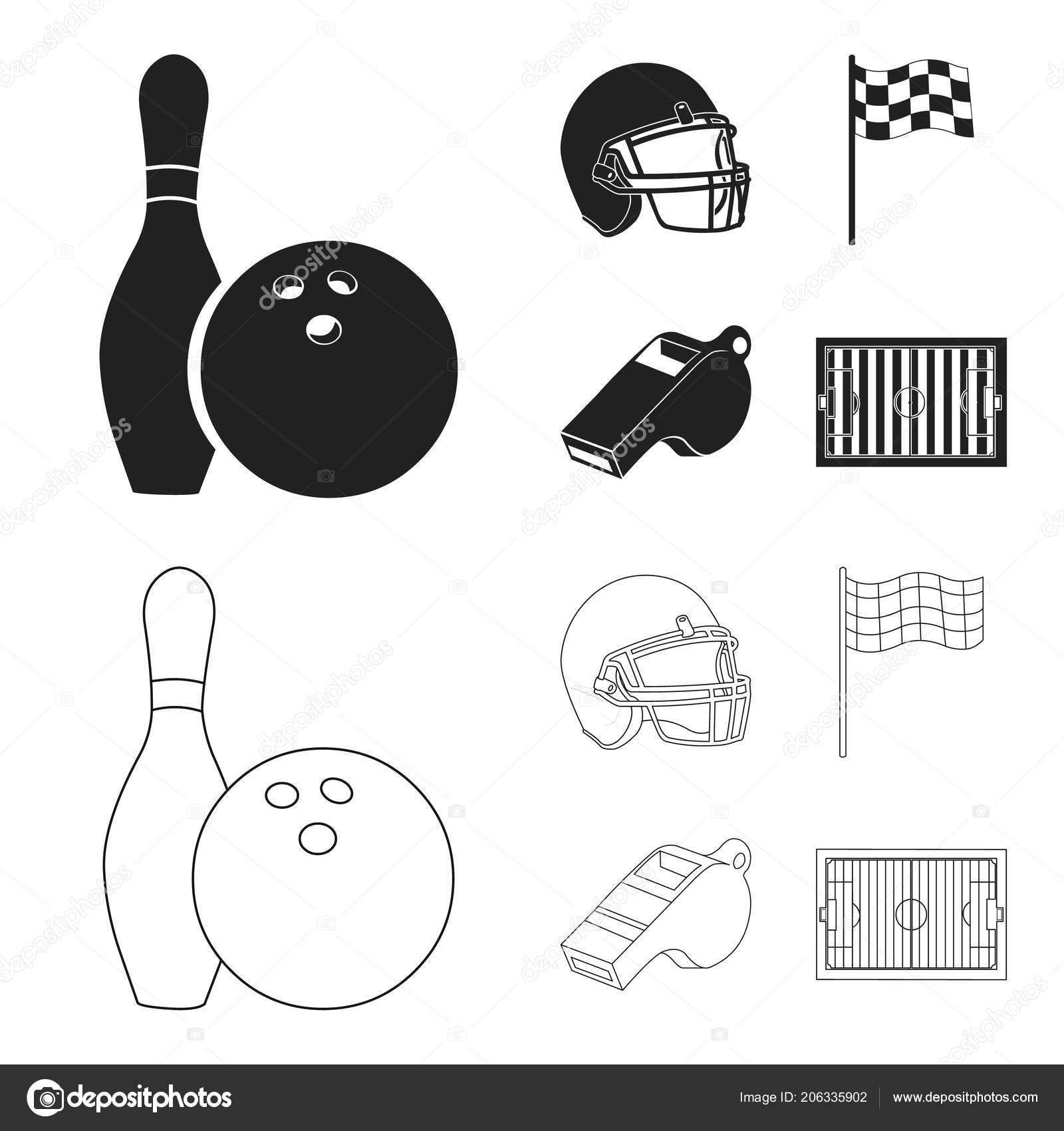 Bowl And Bowling Pin For Bowling Protective Helmet For Playing