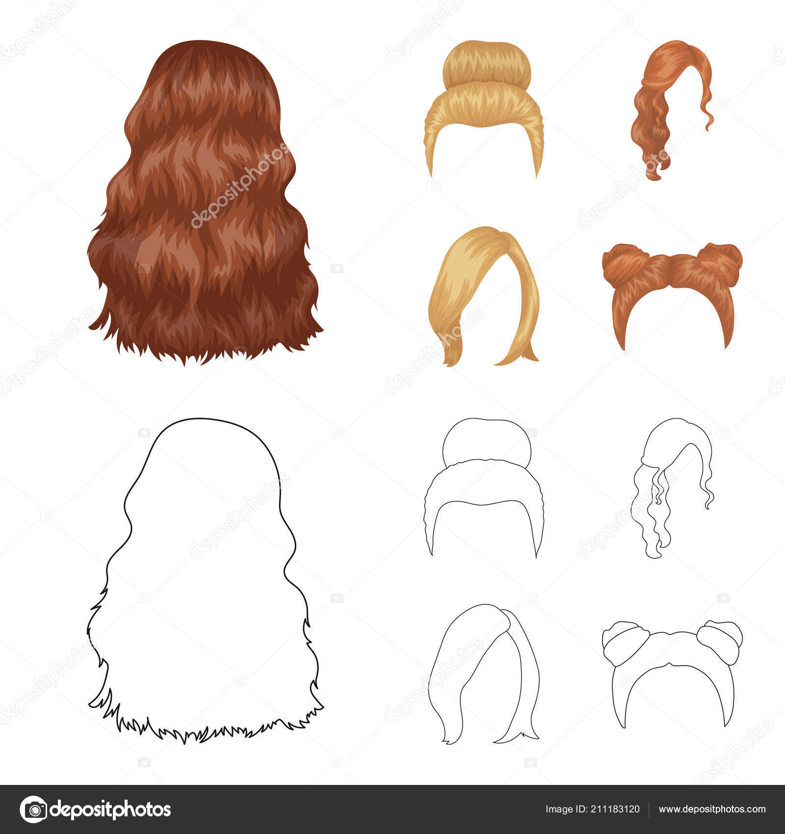 Blond With A Bunch Red Wavy And Other Types Of Hair Back Hair