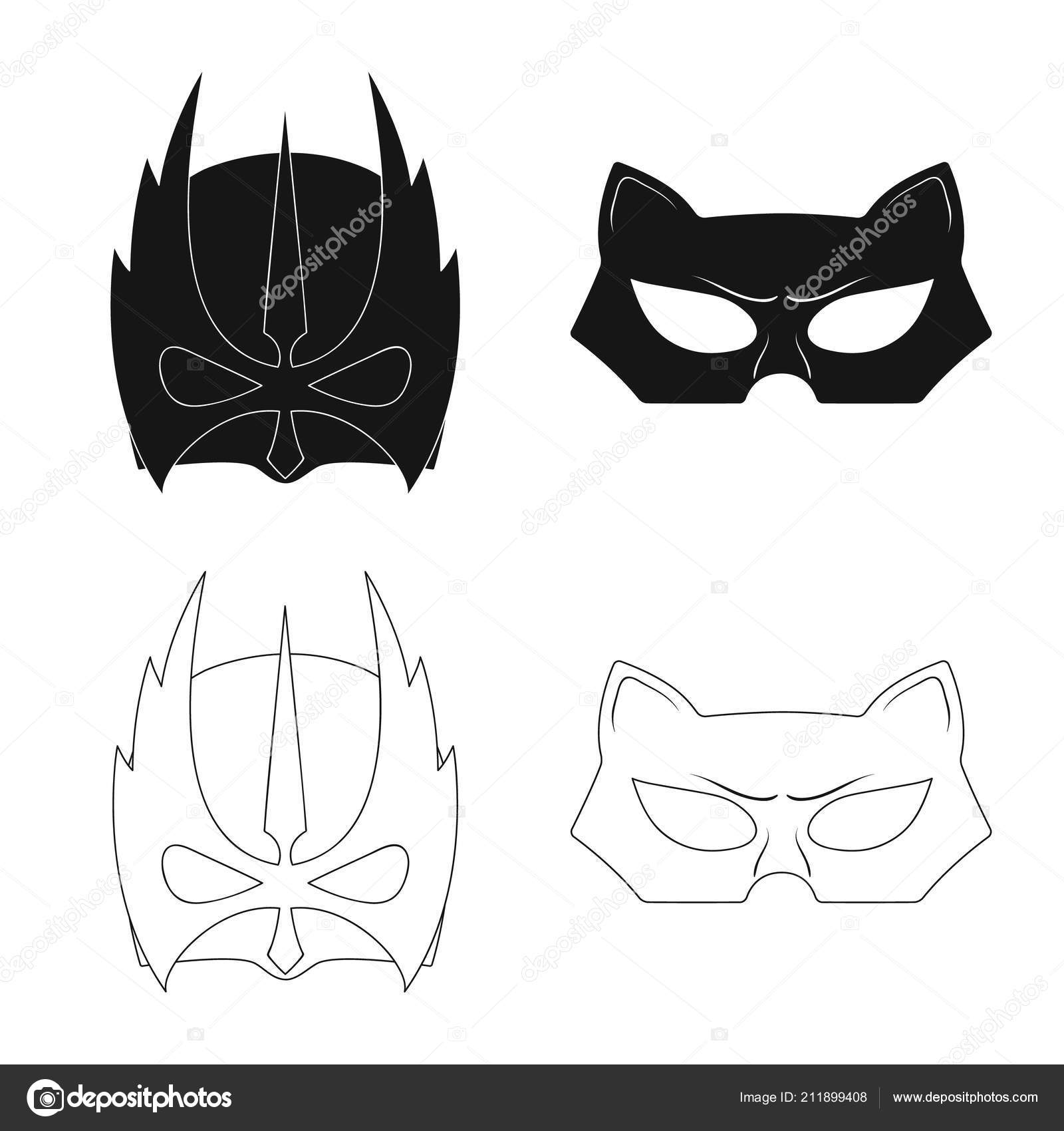 Vector Illustration Of Hero And Mask Symbol Collection Of Hero And