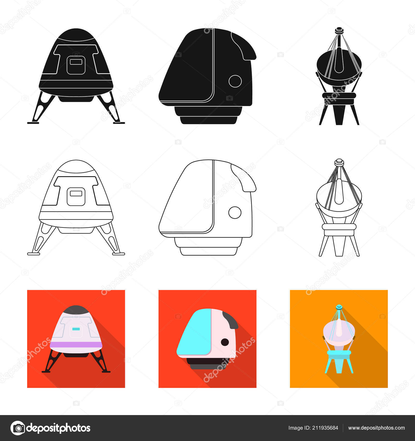 Vector Illustration Of Mars And Space Sign Collection Of Mars And