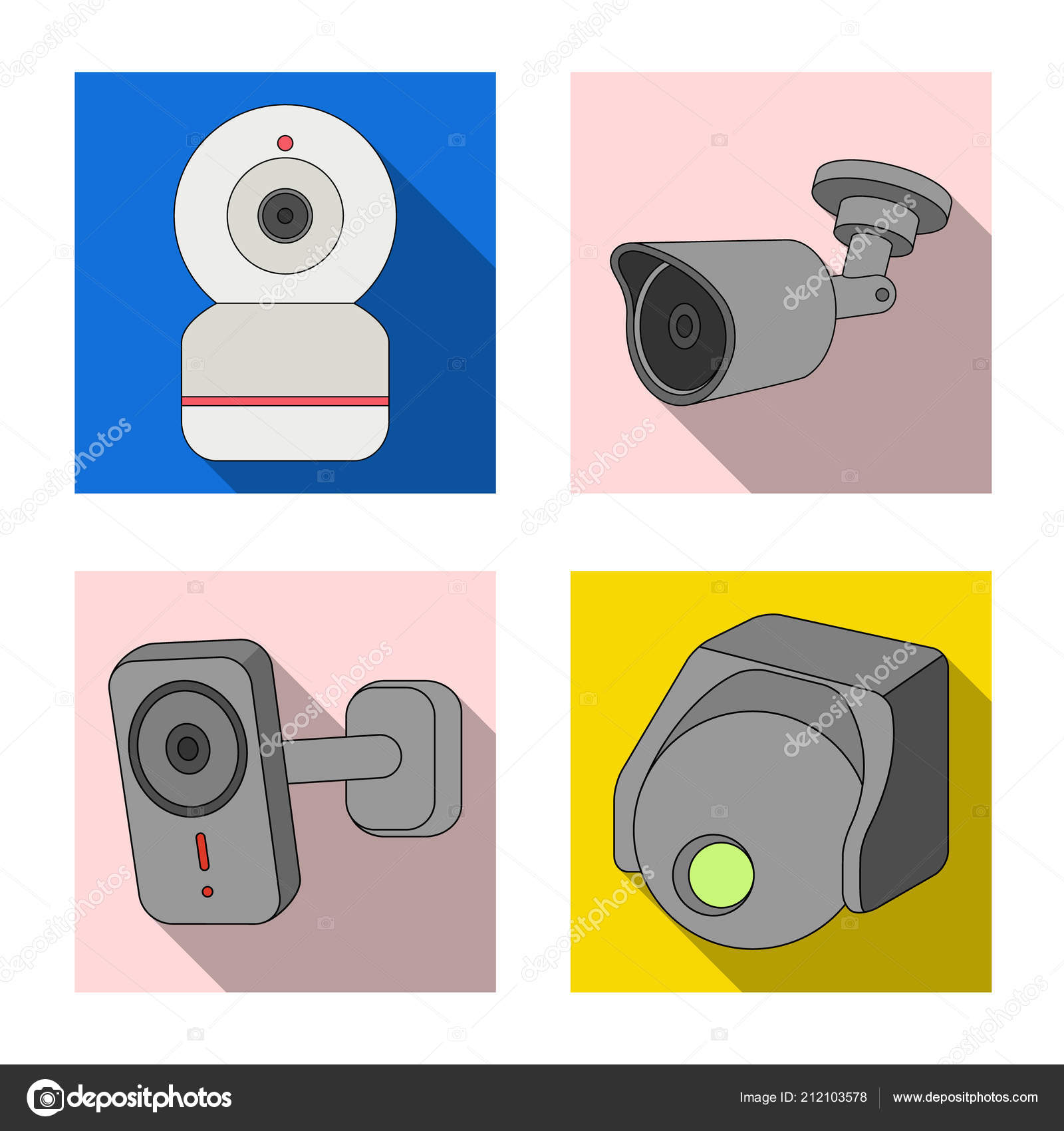 Isolated Object Of Cctv And Camera Symbol Collection Of Cctv And