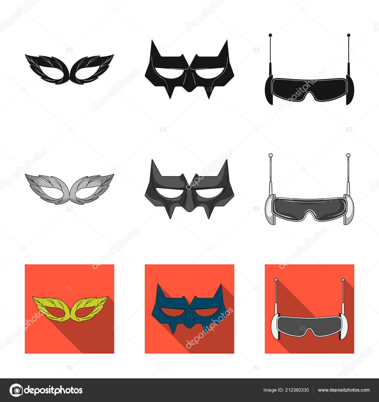 Vector Illustration Of Hero And Mask Icon Set Of Hero And Superhero