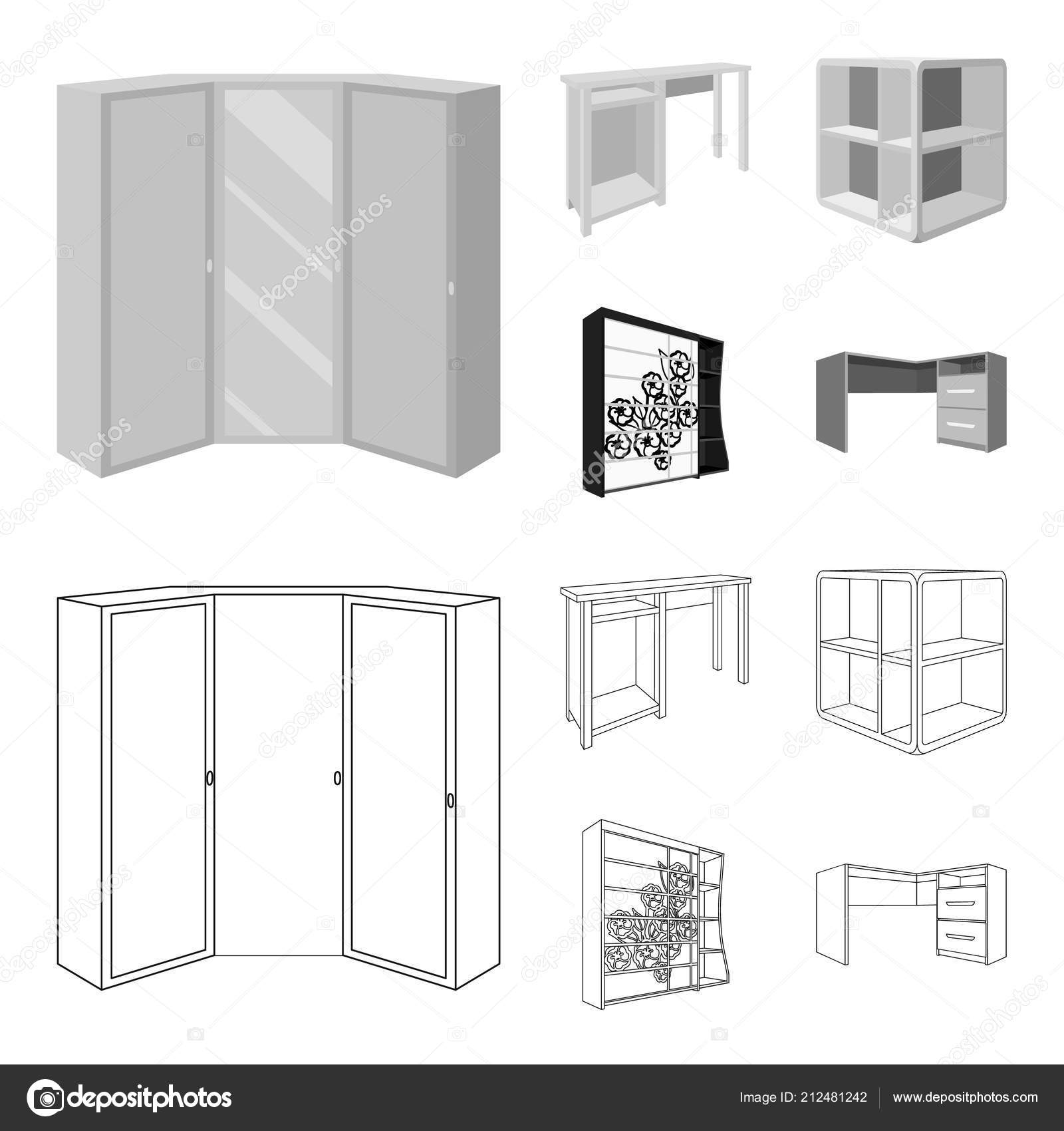 Dressing table, corner shelves, computer desk, wardrobe with ...