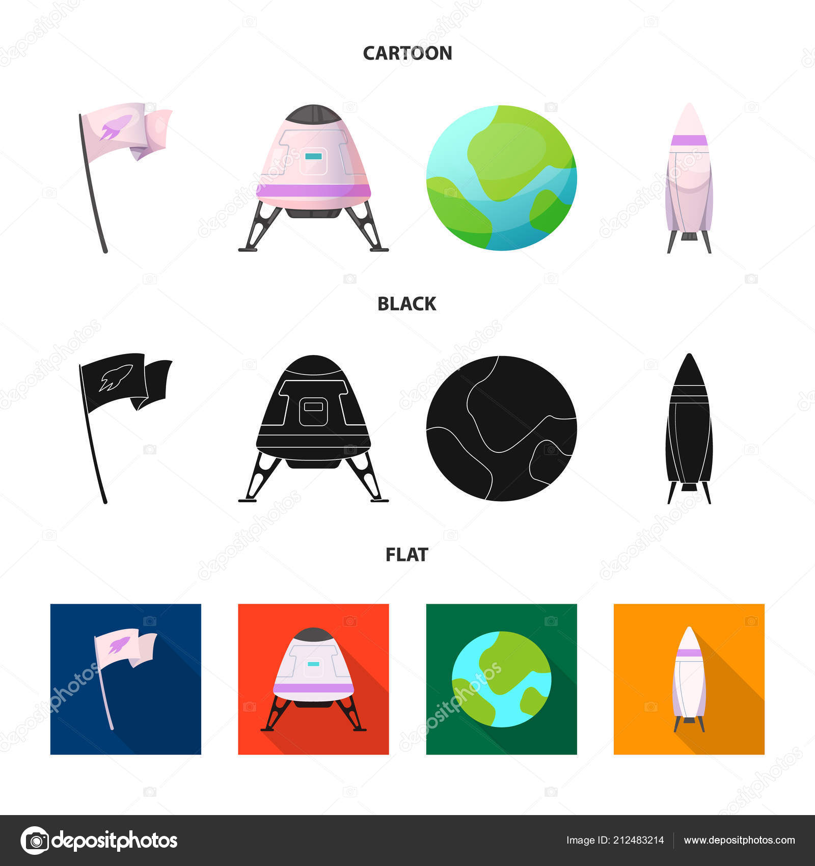 Vector Illustration Of Mars And Space Logo Collection Of Mars And