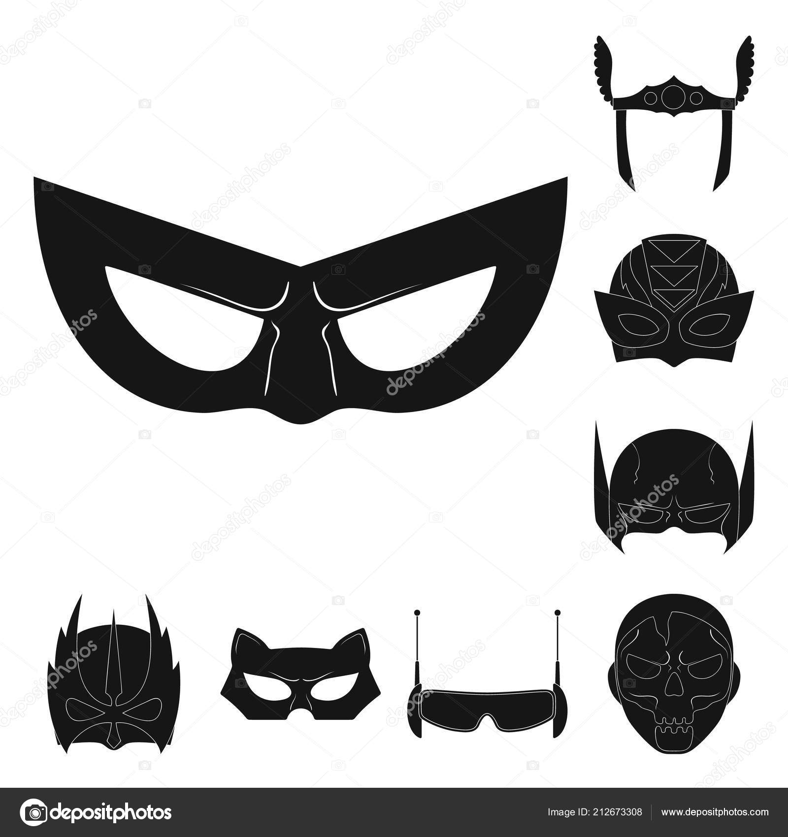 Vector Illustration Of Hero And Mask Icon Collection Of Hero And